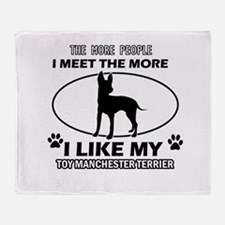 Toy Manchester Terrier dog breed designs Throw Bla