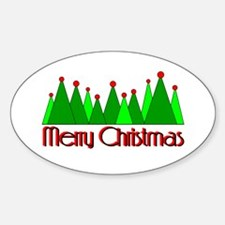"""Merry Christmas"" Oval Decal"
