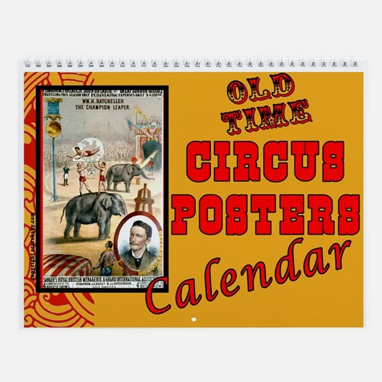 Old Time Circus Posters Wall Calendar