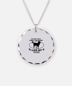 Toller dog breed designs Necklace Circle Charm