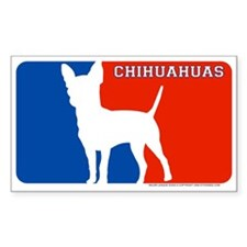 """Chihuahuas"" MLD Rectangle Decal"