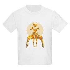 Geometric Giraffe Love T-Shirt
