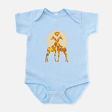 Geometric Giraffe Love Body Suit