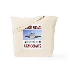 ALIENS EAT Tote Bag