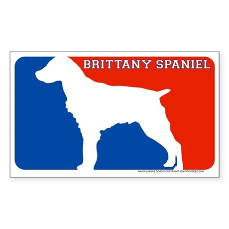 """Brittany Spaniel"" MLD Rectangle Sticker"