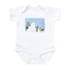 Keeshond Snow Dog Infant Bodysuit