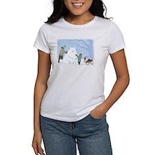 Keeshond Snow Dog Tee