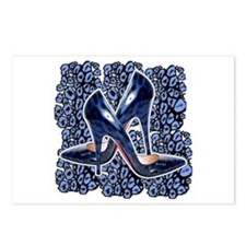 My BLue Leopard Pumps Postcards (Package of 8)