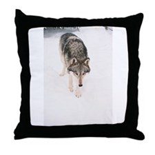 """""""Lone Wolf"""" Throw Pillow"""