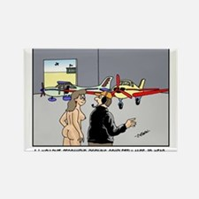 Nude Skydiver Rectangle Magnet
