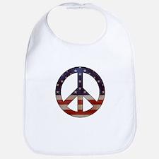 Weathered Flag Peace Sign Bib