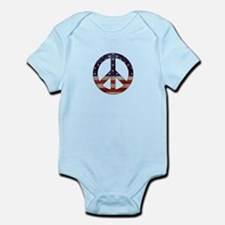 Weathered Flag Peace Sign Body Suit