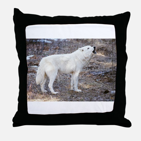 """""""Lost Wolf"""" Throw Pillow"""