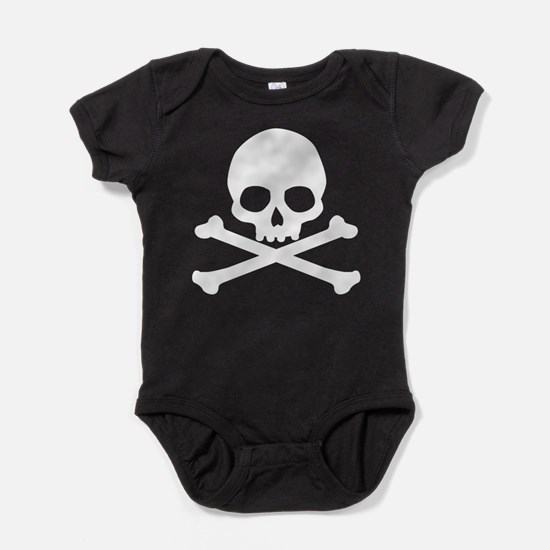 Simple Skull And Crossbones Baby Bodysuit
