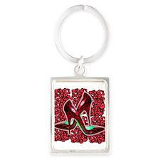 Red Leopard Stiletto's Portrait Keychain
