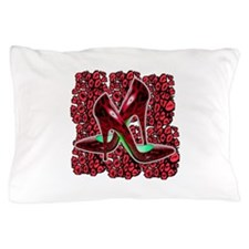 Red Leopard Stiletto's Pillow Case