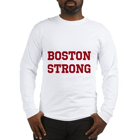 Boston Strong (Red) Long Sleeve T-Shirt
