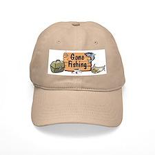 Grandpa Gone Fishing Baseball Cap