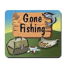 Great Grandpa Gone Fishing Mousepad