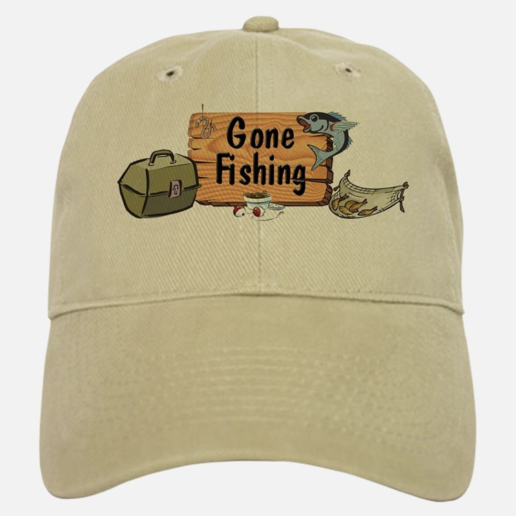 Great Grandpa Gone Fishing Baseball Baseball Cap