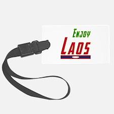 Enjoy Laos Flag Designs Luggage Tag