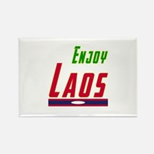 Enjoy Laos Flag Designs Rectangle Magnet