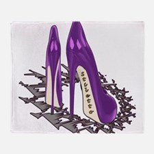 Purple Stiletto Art Throw Blanket