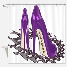 Purple Stiletto Art Shower Curtain