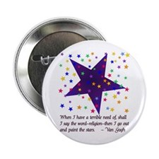 """Starry Night 2.25"""" Button (10 pack)"""