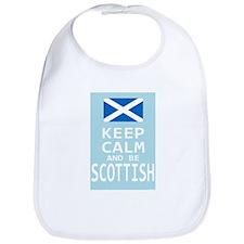 Keep Calm and Be Scottish Bib