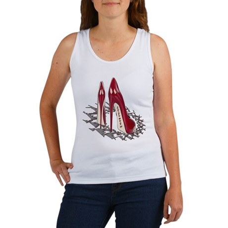 Burgundy Stiletto Art Women's Tank Top