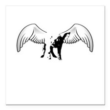 "when pigs fly Square Car Magnet 3"" x 3"""