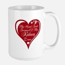 Personalize me Red Transplant Heart Large Mug