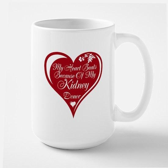 Personalize me Red Transplant Heart Large Mug