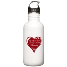 Personalize me Red Transplant Heart Water Bottle