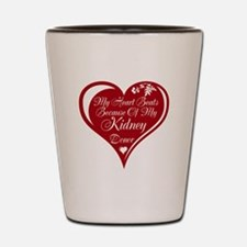Personalize me Red Transplant Heart Shot Glass