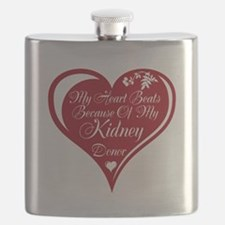 Personalize me Red Transplant Heart Flask