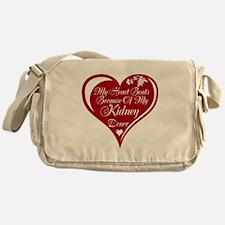 Personalize me Red Transplant Heart Messenger Bag