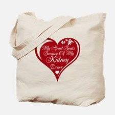 Personalize me Red Transplant Heart Tote Bag