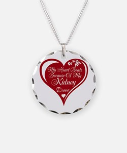 Personalize me Red Transplant Heart Necklace