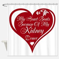 Personalize me Red Transplant Heart Shower Curtain