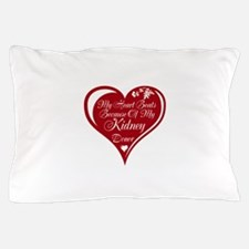 Personalize me Red Transplant Heart Pillow Case