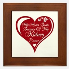 Personalize me Red Transplant Heart Framed Tile