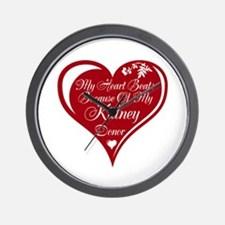 Personalize me Red Transplant Heart Wall Clock