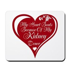 Personalize me Red Transplant Heart Mousepad