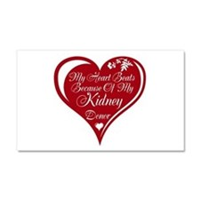 Personalize me Red Transplant Heart Car Magnet 20