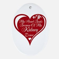 Personalize me Red Transplant Heart Ornament (Oval