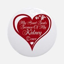 Personalize me Red Transplant Heart Ornament (Roun