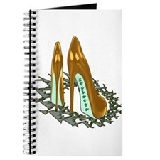 Gold Shiny Pumps Journal
