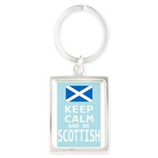 Keep Calm and Be Scottish Portrait Keychain